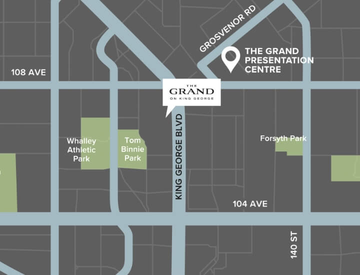 The Grand on King George Map